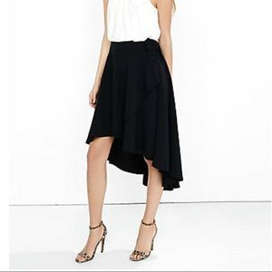 Express new condition black high low skirt